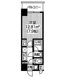 S−RESIDENCE福島Luxe[1412号室]の間取り