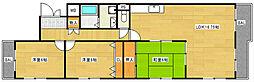 ベルテプラージュ[1階]の間取り