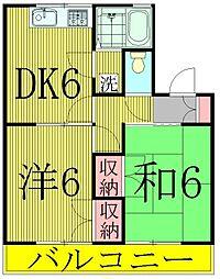ドミールフィーロ2[2階]の間取り