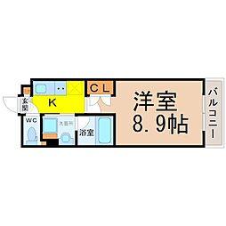 タウンライフ高社[4階]の間取り