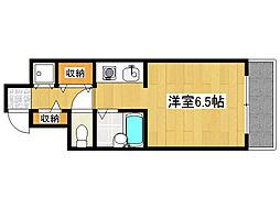 レジデンスSAKURA 4階ワンルームの間取り