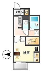 愛知県名古屋市中川区春田1丁目の賃貸アパートの間取り