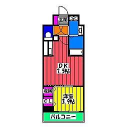 福岡県福岡市南区横手1丁目の賃貸マンションの間取り