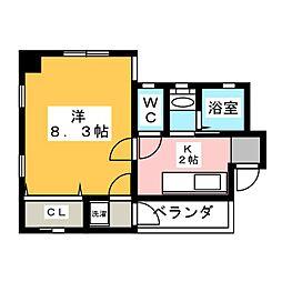 桜パレス[1階]の間取り
