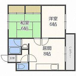 ノースビル33[3階]の間取り