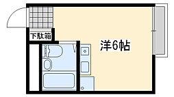 アースシティ田尻[107号室]の間取り