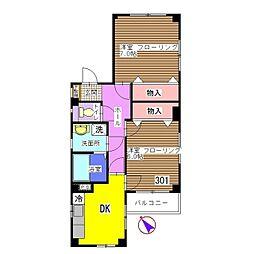 サンシャインハウス[301号室]の間取り