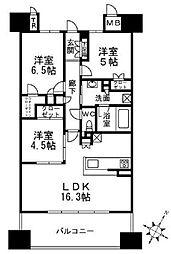 ジオ高槻ミューズEX[10階]の間取り