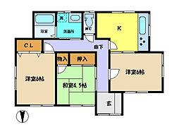 [一戸建] 埼玉県さいたま市中央区上峰4丁目 の賃貸【/】の間取り