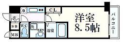 神戸新交通ポートアイランド線 貿易センター駅 徒歩1分の賃貸マンション 7階1Kの間取り