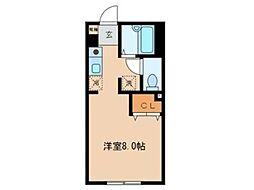 アラウ・アパートメント[1階]の間取り