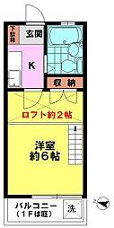 コーポベアー(2F)[2階]の間取り