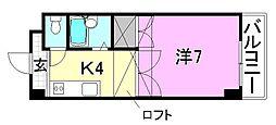 めいぷるどおり[305 号室号室]の間取り