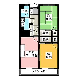 市毛マンション[3階]の間取り