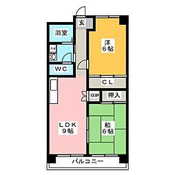 アペニンハイム[4階]の間取り
