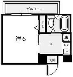 大阪府堺市堺区東湊町4丁の賃貸マンションの間取り