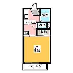 エスポワール B棟[1階]の間取り