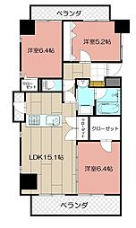 THE SQUARE・Suite Residence[706号室]の間取り