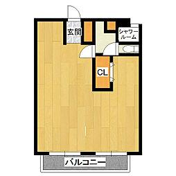 木田余アーバンハイツ[1階]の間取り