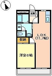 アクロス7122[2階]の間取り