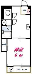 東京都大田区下丸子2丁目の賃貸マンションの間取り