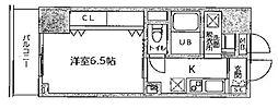 JR山手線 御徒町駅 徒歩7分の賃貸マンション 13階1Kの間取り