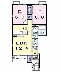サンキャッスルS・III[1階]の間取り