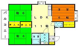 ハイツ平成[2階]の間取り