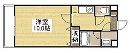 URBANO奥田 3階1Kの間取り
