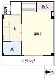 メゾン上汐田[2階]の間取り