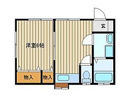 東京都練馬区谷原5丁目の賃貸アパートの間取り