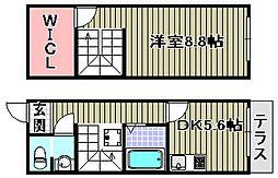 [タウンハウス] 大阪府高石市綾園4丁目 の賃貸【/】の間取り