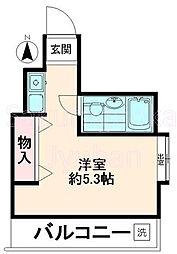 東京都目黒区碑文谷2丁目の賃貸マンションの間取り