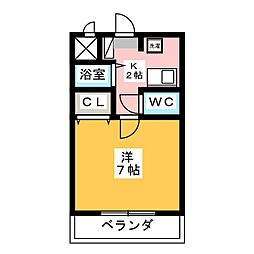 WING・カチガワ[2階]の間取り