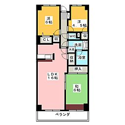 瀬戸水野パークホームズ519[5階]の間取り