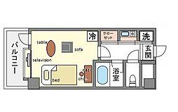 家具・家電付きピュアドームベイス博多[2階]の間取り