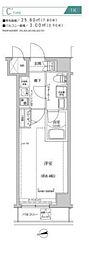 都営新宿線 住吉駅 徒歩10分の賃貸マンション 7階1Kの間取り