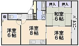 サンドミール西口[2階]の間取り