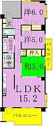 アンビシャス西新井[3階]の間取り