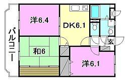 ユーミーAOKI A棟[201 号室号室]の間取り