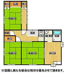 [一戸建] 福岡県北九州市八幡東区中尾1丁目 の賃貸【/】の間取り