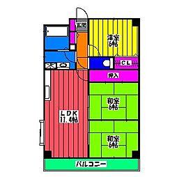 アバンダント TOU[5階]の間取り