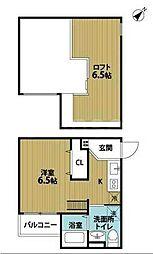 大阪府堺市堺区賑町3丁の賃貸アパートの間取り