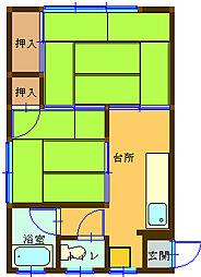 長崎県長崎市中小島2丁目の賃貸アパートの間取り