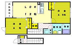Mステージ天神III[2階]の間取り