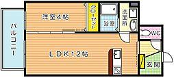 福岡県北九州市八幡東区昭和3丁目の賃貸マンションの間取り