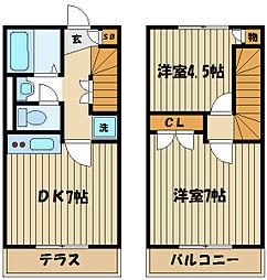 [タウンハウス] 東京都府中市四谷5丁目 の賃貸【/】の間取り
