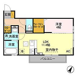 (仮)D-room寺尾台[A302号室]の間取り