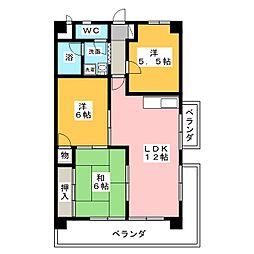 カネマン寺山ビル[2階]の間取り