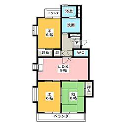サンライズ藤[2階]の間取り